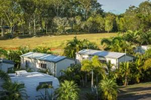 greenacres capalaba caravan park cabins landscape